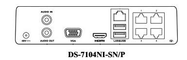 DS7104NISNP NVR Slim 4 canales IP - foto 1