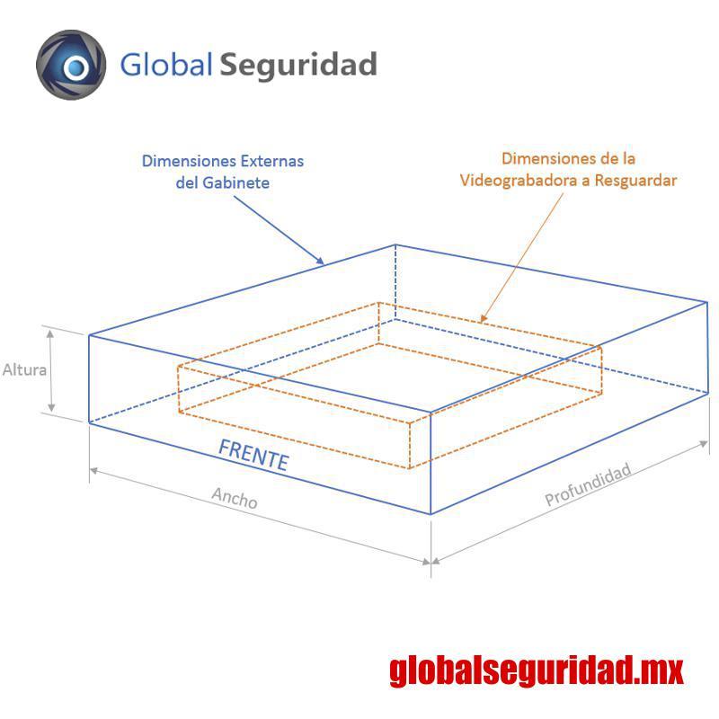 GABVID4 Gabinete de Seguridad para DVR/NVR. Tamaño Extra Grande - foto 1