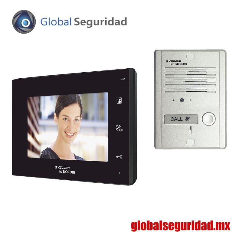 """KCVA374KB Kit de TV Portero manos libres pantalla LCD a color de 7"""""""