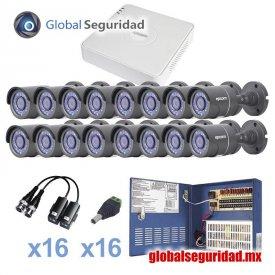KESTXLT16B Kit CCTV 16 cámaras bala TurboHD 720p