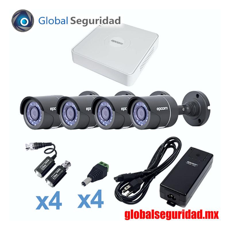 KESTXLT4B Kit CCTV 4 bala TurboHD 720p