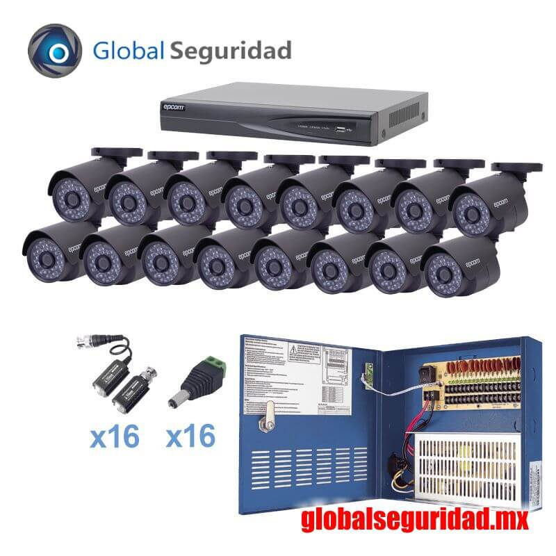 KEVTX8T16B Kit TURBOHD 1080p DVR 8 Canales