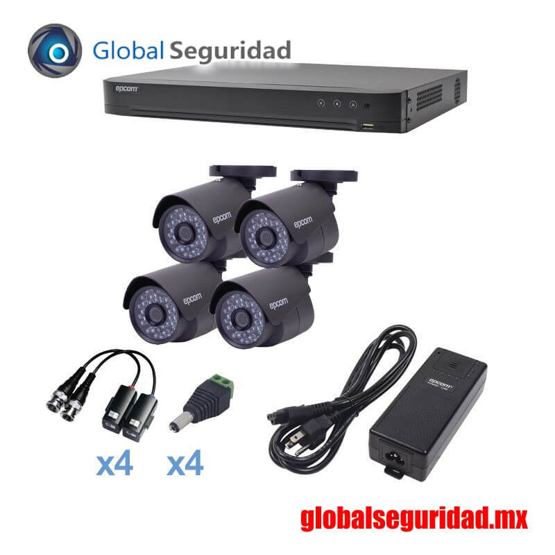 KEVTX8T4B Kit TURBOHD 1080p DVR 4 Canales