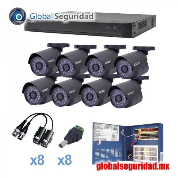 KEVTX8T8B Kit TURBOHD 1080p DVR 16 Canales