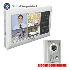 KVRA510 Kit de TV Portero TOUCH SCREEN QUAD con DVR