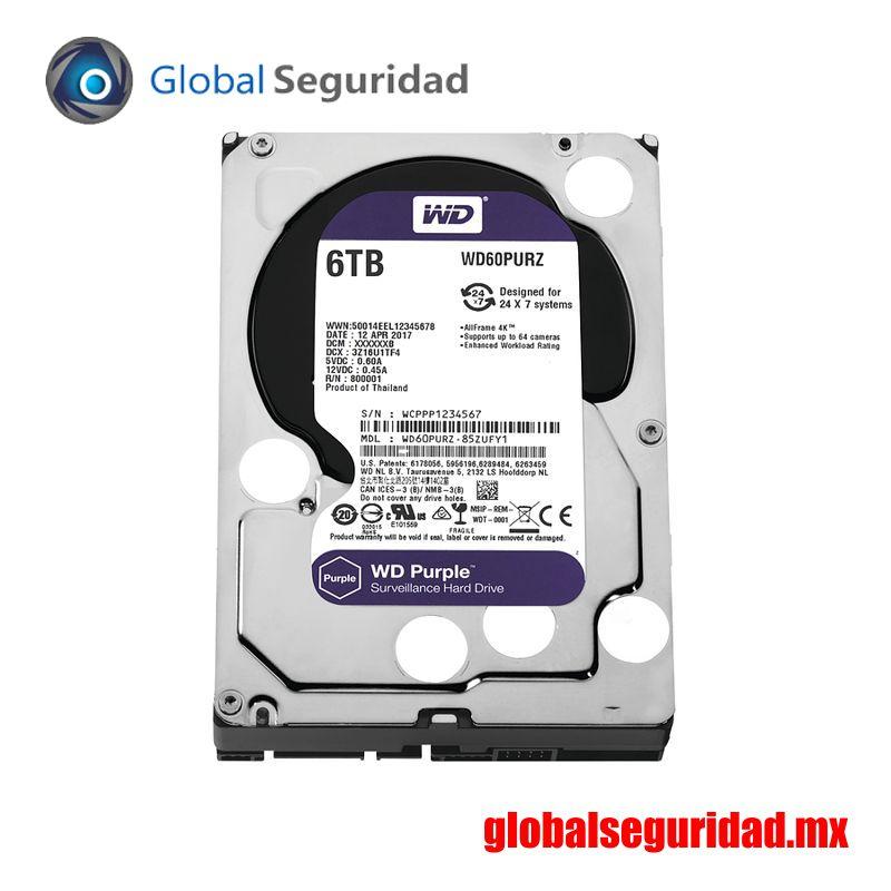 WD60PURZ Disco duro WD de 6TB / 5400RPM / Optimizado para Videovigilancia
